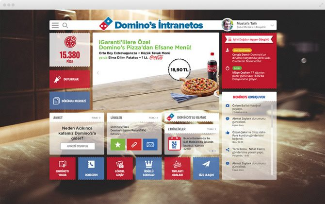 Dominos Sosyal Intranet
