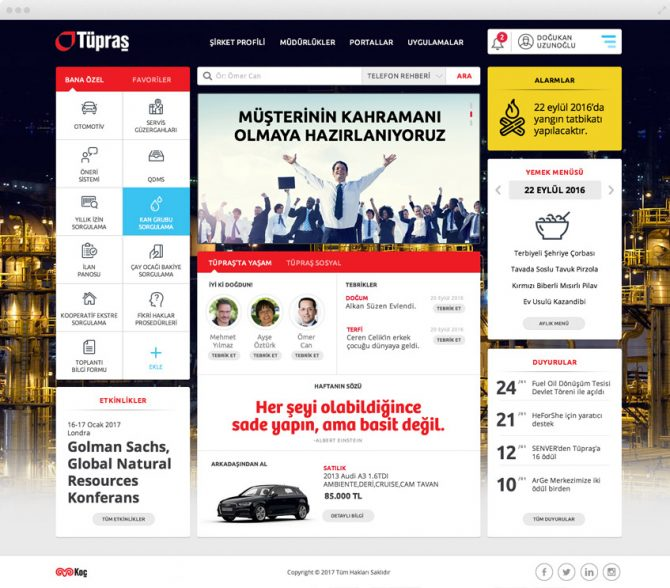 Tupras Intranet